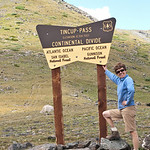 Nancy at the summit of Tincup
