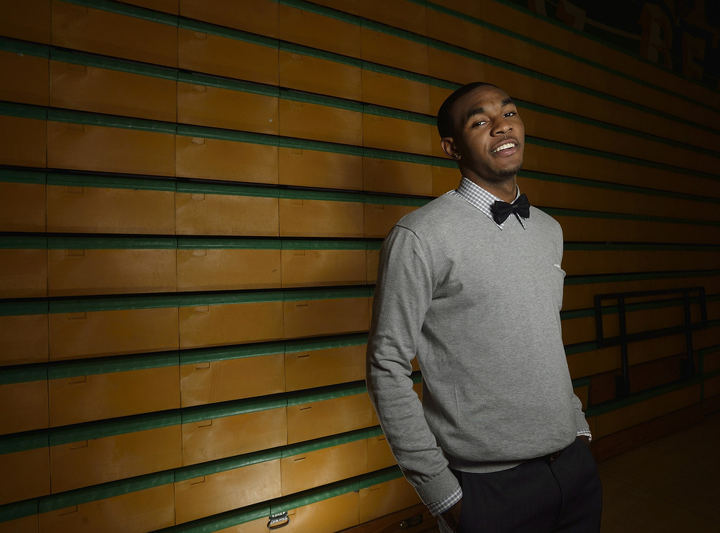 . LONG BEACH, CALIF. USA -- Press-Telegram Dream Team boys basketball Player of the Year Roschon Prince of Poly High on March 28, 2013.  Photo by Jeff Gritchen / Los Angeles Newspaper Group