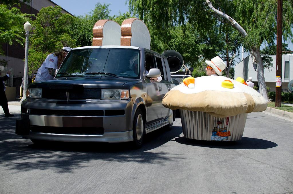 . Participants of the 2013 Pasadena Doo Dah Parade in Pasadena, Calif., Saturday, April 27, 2013. Parade goers threw tortillas and silly string at participants of the parade on E. Colorado Boulevard (SGVN/Correspondent photo by Anibal Ortiz)