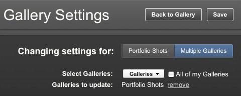 bulk gallery settings