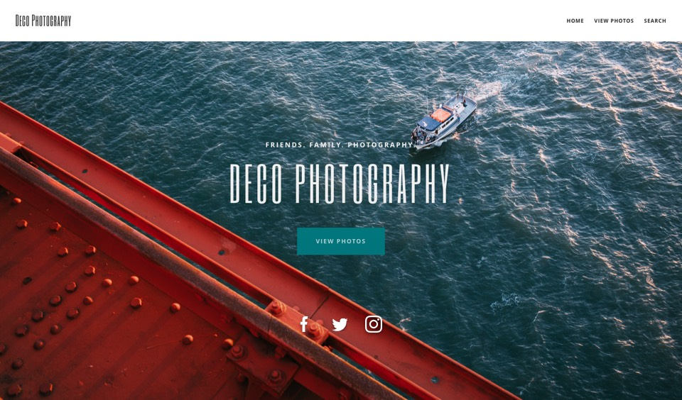 Deco SmugMug theme