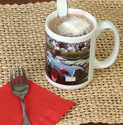 White ceramic photo mug