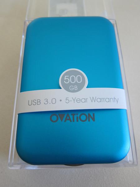 Ovation USB 3.0 500 GB Portable Hard Disk
