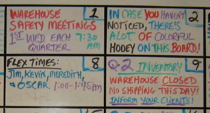 The Office whiteboard
