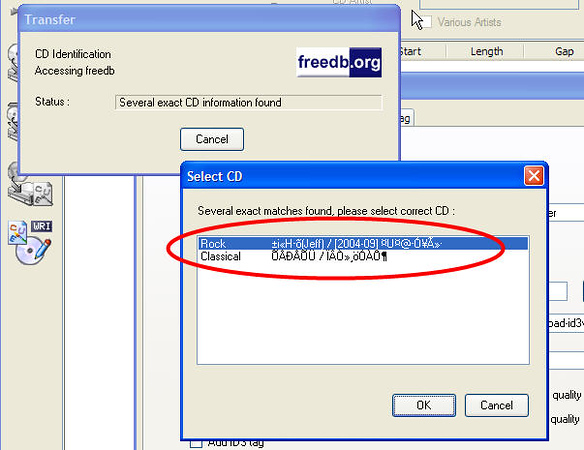 EAC Query to Freedb
