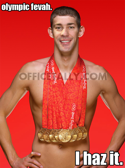 Michael Phelps John Krasinski