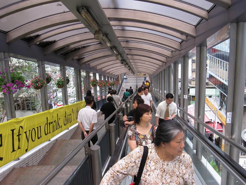 Hong Kong Central Mid Levels Escalators