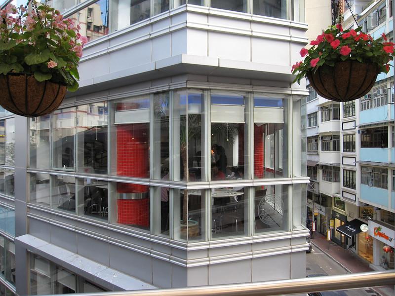 Shops next to the Hong Kong Central Mid Levels Escalators