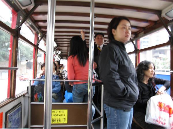 Inside the Hong Kong Ding Ding Tram
