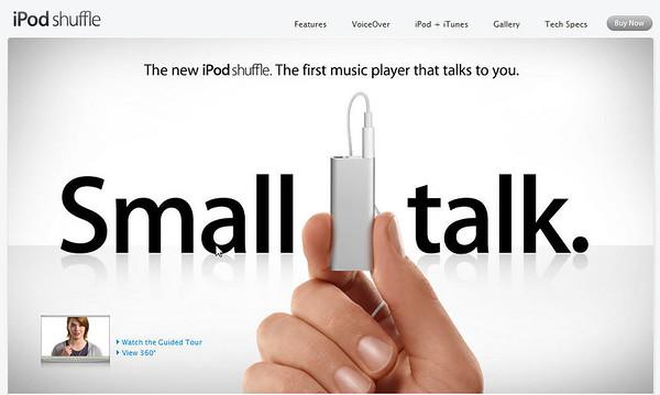 Apple Shuffle Talks to You