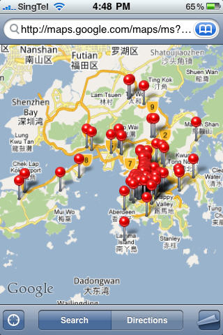 Google Map on iPhone