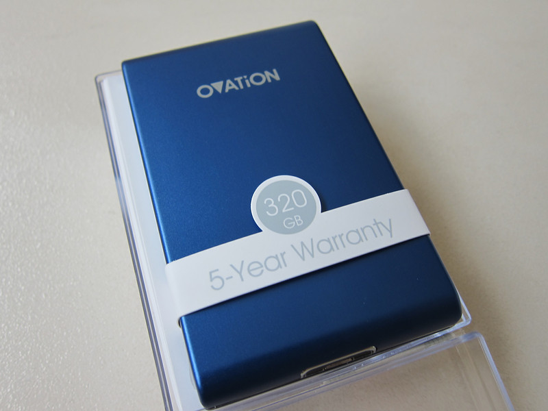 Ovation 320GB Ultra Slim Pocket Drive.