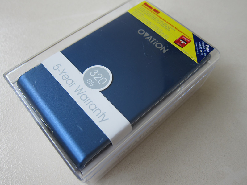 Ovation 320GB Ultra Slim Pocket Drive