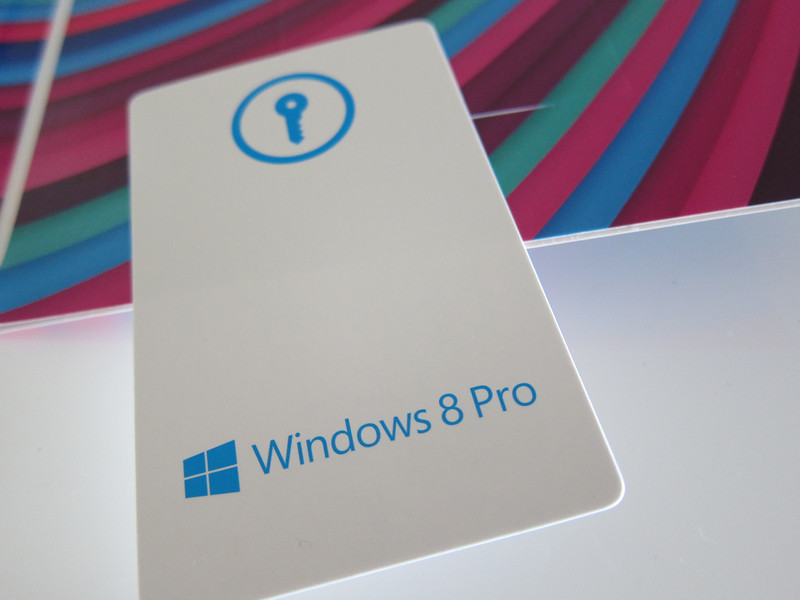 Windows 8 Pro Retail Box Product Key Card