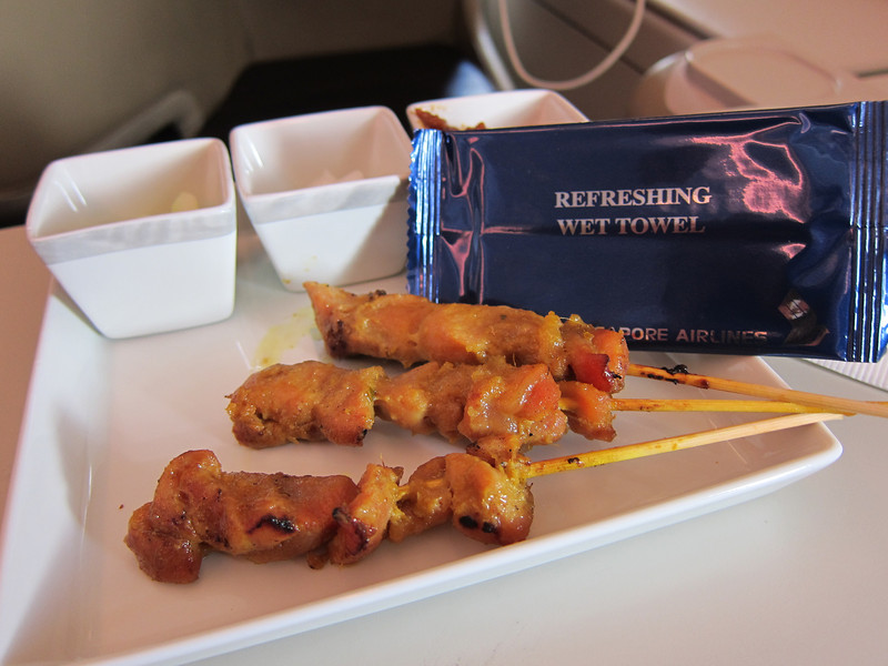 Some photos of a meal on the A380