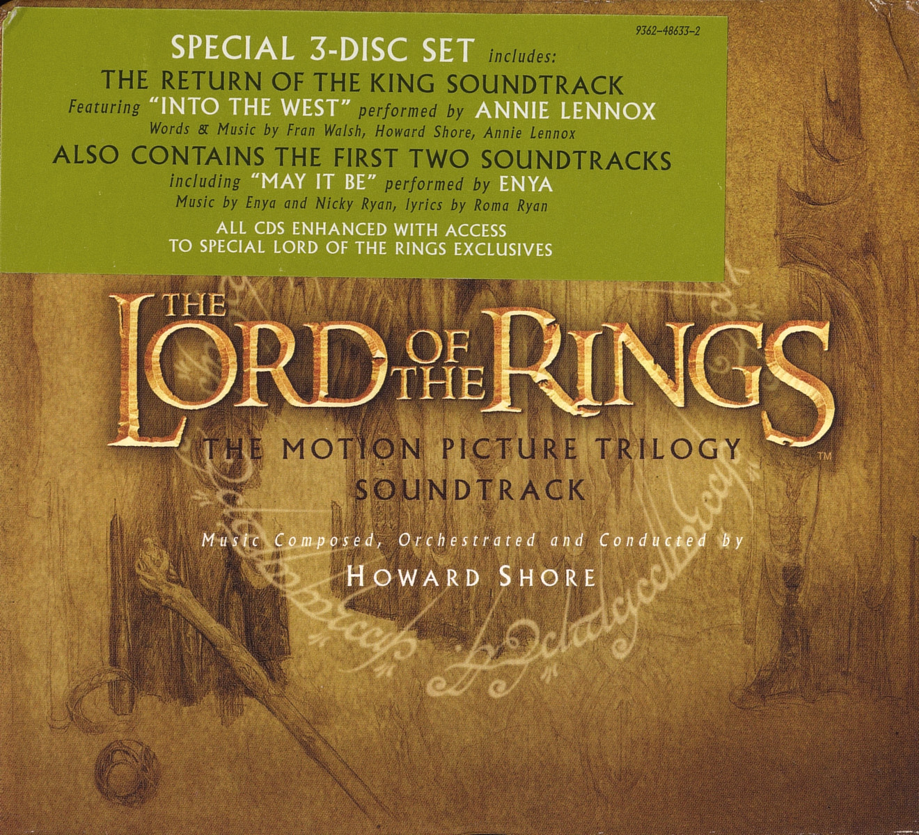 The Lord of the Rings Motion Picture Trilogy Soundtrack Album Art Covers