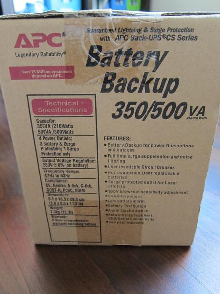 APC BackUPS CS500