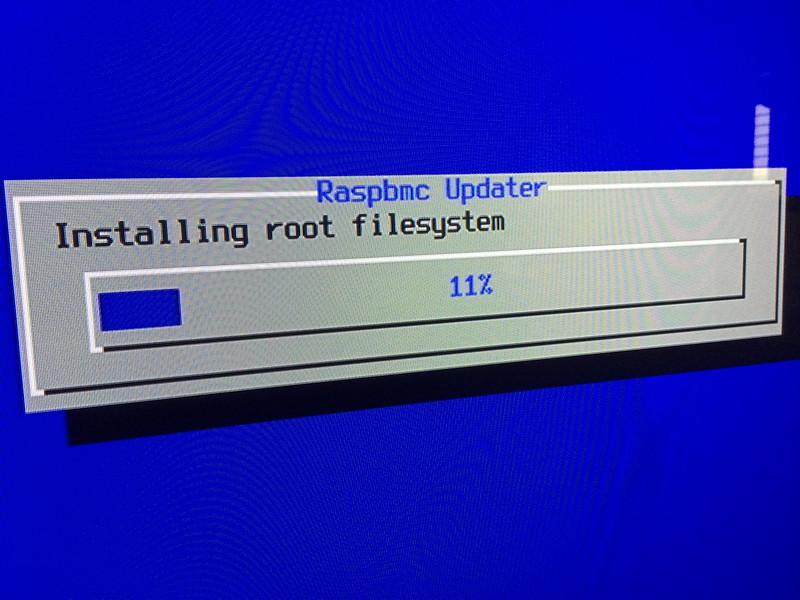 Raspberry Pi Raspbmc installing ROOT FILESYSTEM
