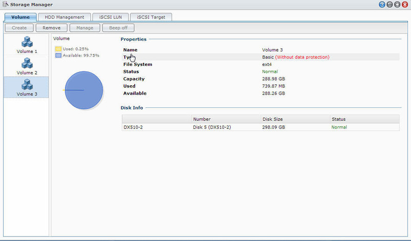 3 Volumes in Synology Completed