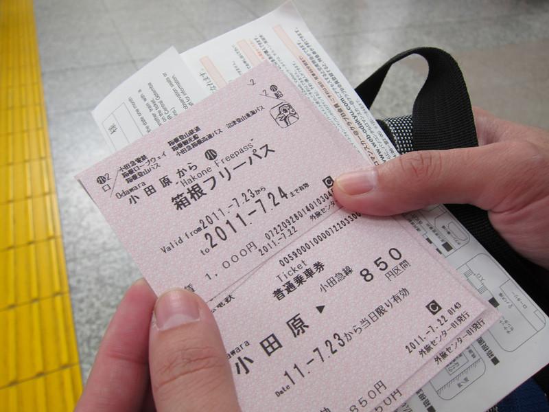 The Hakone Free Pass to tour the Hakone Circuit