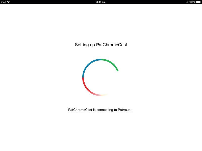 Chromecast Singapore Setting Up on iPad